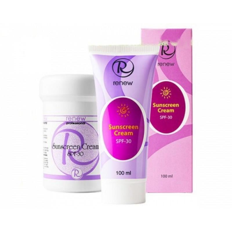 Солнцезащитный крем с защитным фактором 30 / Renew Whitening Sunscreen Cream SPF 30 100ml