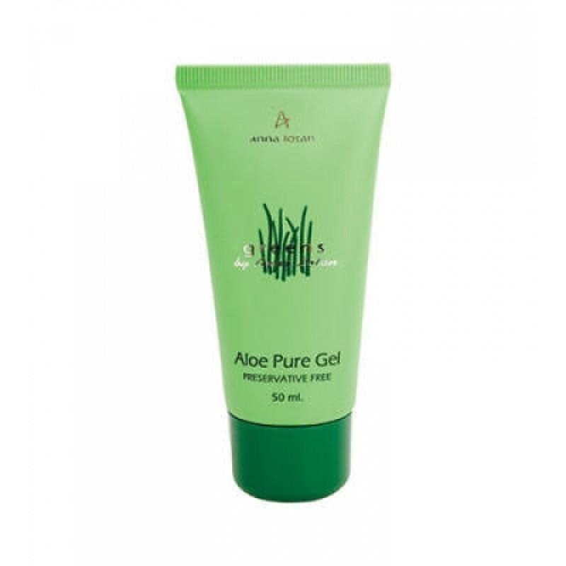 Гель алоэ-вера без консервантов / Anna Lotan Greens Aloe Pure Natural Gel 50 мл, 600 мл