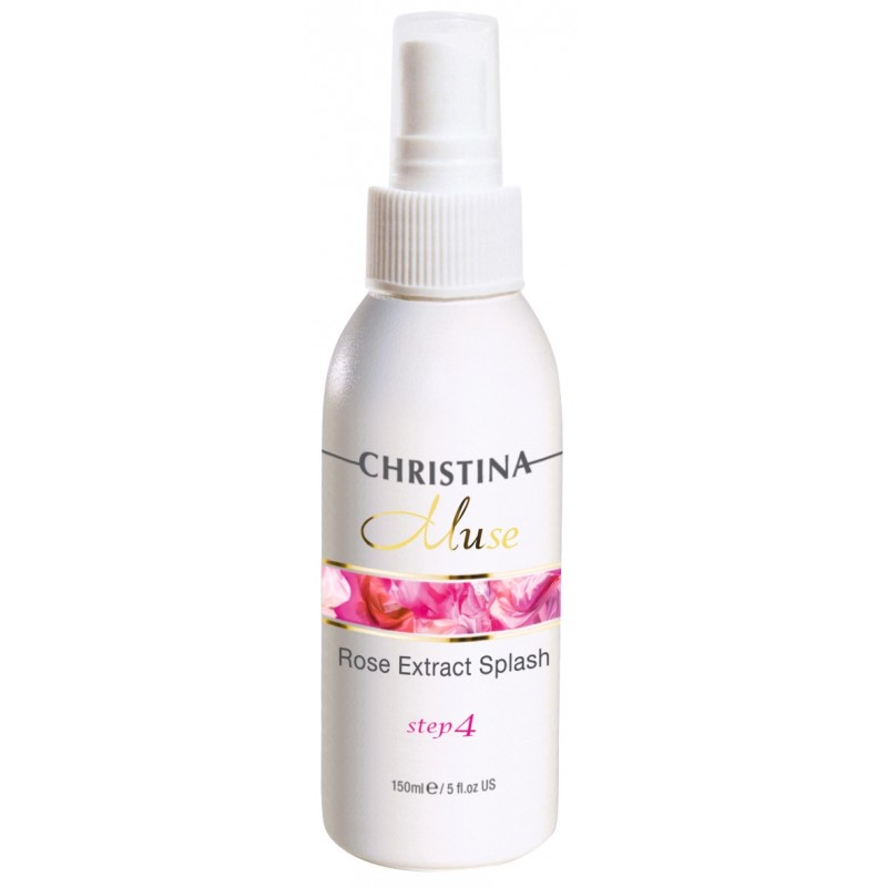 Лосьон-спрей с экстрактом розы / Christina Muse Rose Extract Splash 150 мл (шаг 4)