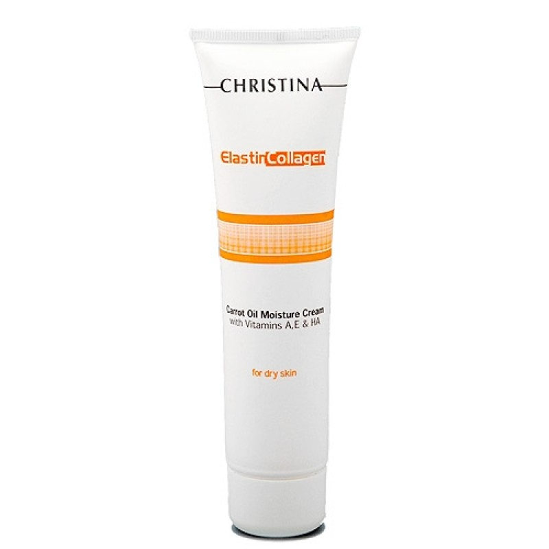 Увлажняющий крем с витаминами А, Е и гиалуроновой кислотой для сухой кожи «Эластин, коллаген, морковное масло» / Christina Elastin Collagen Carrot Oil Moisture Cream 60 мл, 250 мл