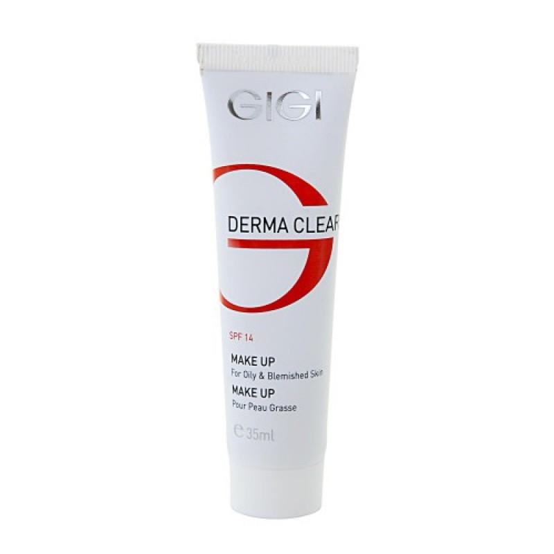 Крем тональный для жирной кожи Дерма Клиар с SPF-14 / GiGi Derma Clear Make UP SPF 14 35 мл