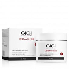 Влажные диски очищающие Дерма Клиар / GiGi Derma Clear Deep Cleansing Liquid Pads 60 штук