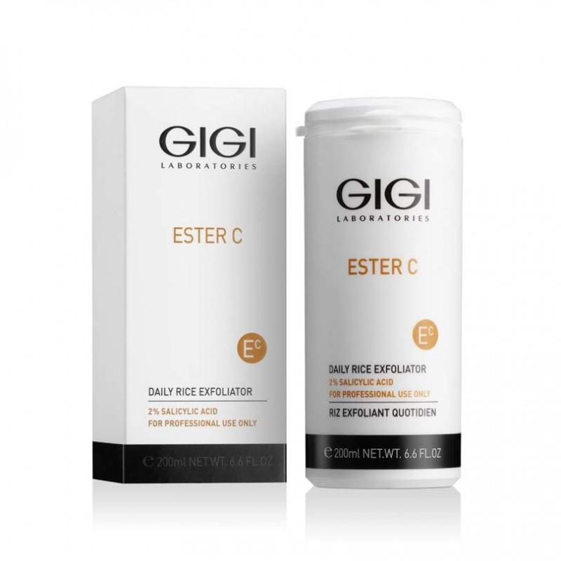 Пилинг-пудра Эксфолиант для очищения и осветления кожи 2% салициловой кислоты 200мл / GiGi Ester C Daily Rice Exfoliator 2% Salicylic Acid 200ml