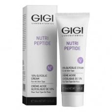 Крем ночной с 10% гликолиевой кислотой для всех тип кожи 50 мл / GiGi Nutri-Peptide 10% Glycolic Cream 50 ml