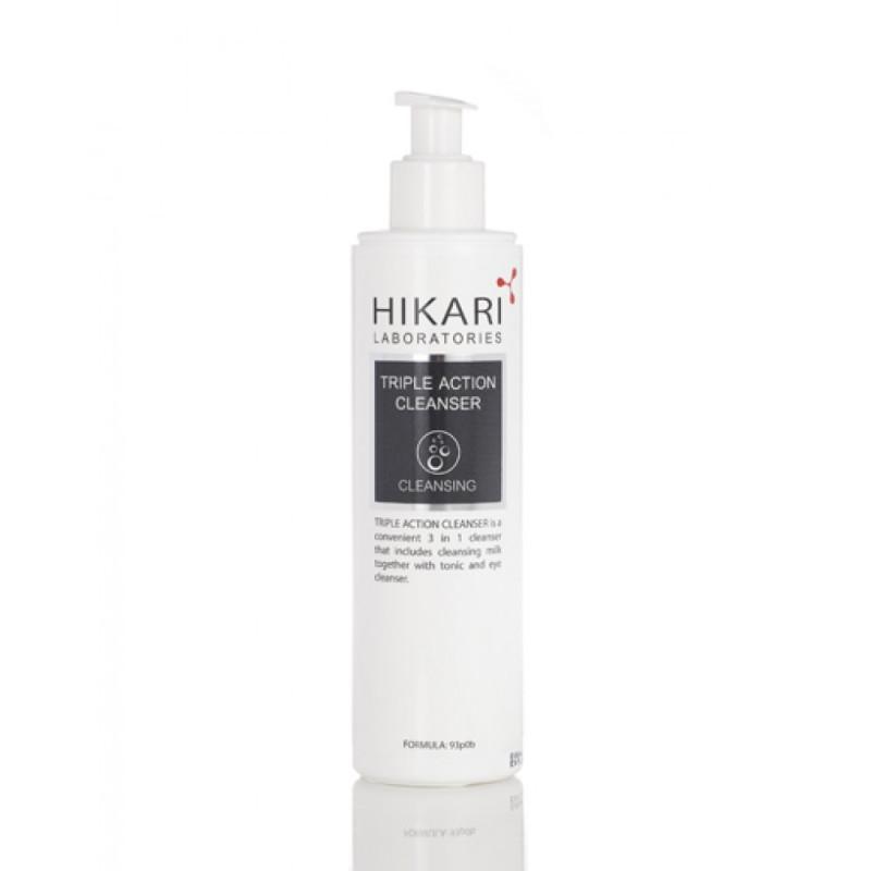 Очищающий крем тройного действия для деликатной кожи 250 мл. 500 мл. / HIKARI Triple Action Cleanser 250 ml. 500 ml.