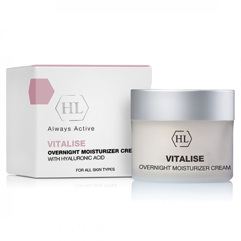 Ночной увлажняющий крем / Holy Land Vitalise Overnight Moisturizer Cream with Hyaluronic Acid 50 мл, 250 мл
