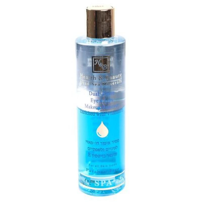 Двухфазный лосьон для снятия макияжа (для глаз и губ) 250 мл / Health And Beauty Dual-Phase Eye & Lips Make-Up Remover with Vitamin E 250 ml