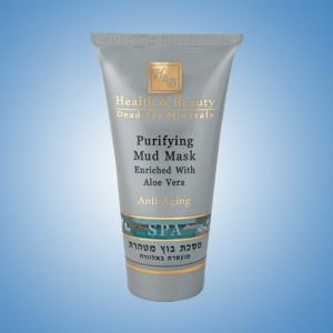 Очищающая грязевая маска для лица с алоэ вера 150 мл / Health And Beauty Purifying Mud Mask Enriched Aloe Vera 150 ml