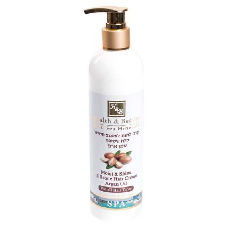 Увлажняющий крем для волос с маслом Аргании 400 мл / Health & Beauty Moist & Shine Argan Oil Hair Cream No-Rinse 400 ml