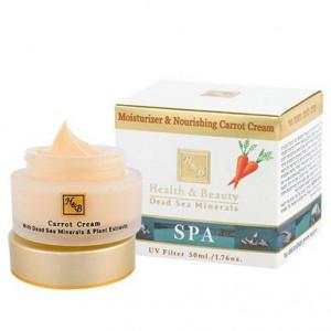 Крем для лица увлажняющий и питательный морковный 50мл / Health & Beauty Moisturizing & Nourishing Carrot Cream 50 ml