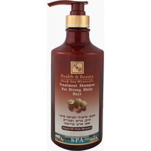 Шампунь укрепляющий для здоровья и блеска волос с маслом Арагана 780 мл /  Health & Beauty Treatment Shampoo For Dry Colored Hair Aragan Oil From Morocco 780 ml