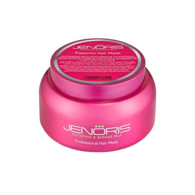 Маска для волос с фисташковым маслом / Jenoris Pistachio Hair Mask 500ml (for Dry,Damaged & Colored)