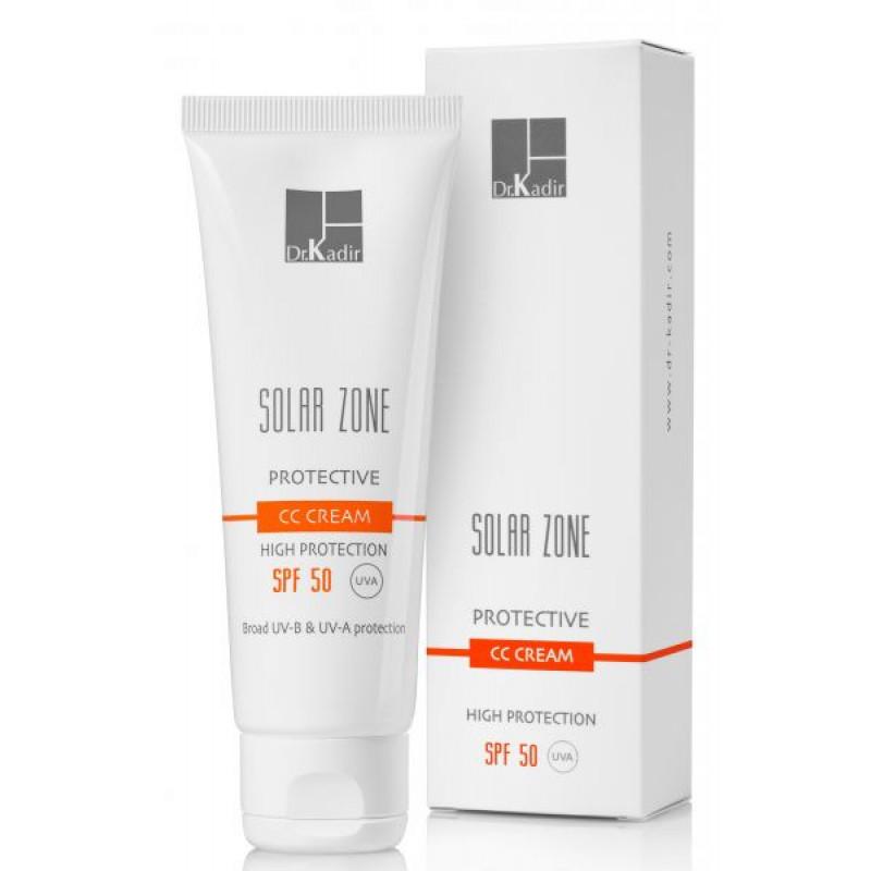 Защитный крем с тоном SPF 50 / Dr. Kadir  Solar Zone Protective CC Cream SPF 50 - 75 мл.