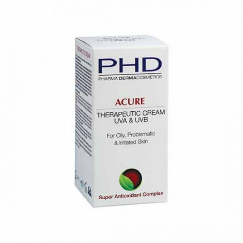 Увлажняющий лечебный крем для жирной, раздраженной и проблемной кожи 50 мл. 250 мл / PHD Acure Therapeutic Cream 50 ml, 250 ml.