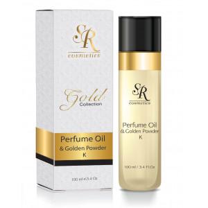 Парфюмированное масло для тела с золотом 24К 100 мл / SR COSMETICS 24K Body Treatment Oil with Gold Powder 100 ml